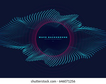 abstract particle with elliptical eye shape