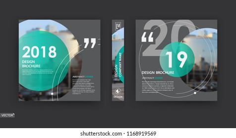 Abstract patch brochure cover design. Black info data banner frame. Techno title sheet model set. Modern vector front page art. Urban city blurb texture. Green citation figure icon. Ad flyer text font