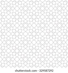 Abstract pattern in Arabian style. Seamless vector background. Gray and white texture