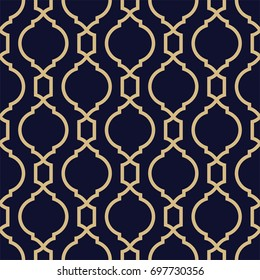 Abstract pattern in Arabian style. Seamless geometric vector background.