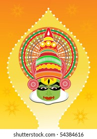 abstract pattern background with kathkali dancer face