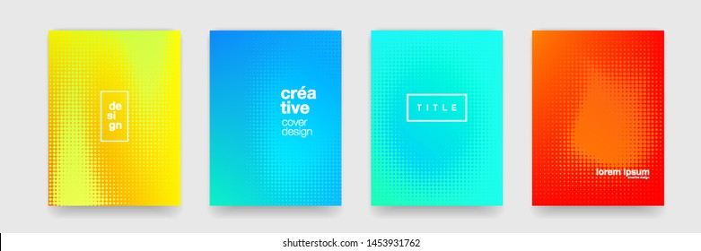 Abstract pattern background, vector geometric texture and halftone color. Trend modern gradient cover pattern background