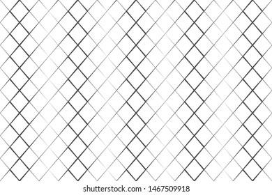 Abstract pattern black grating line on white backdrop vector illustration