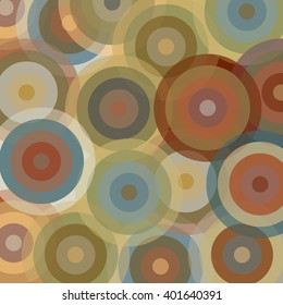 Abstract pattern with circles