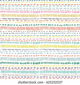 Abstract pattern with color hand drawn strokes
