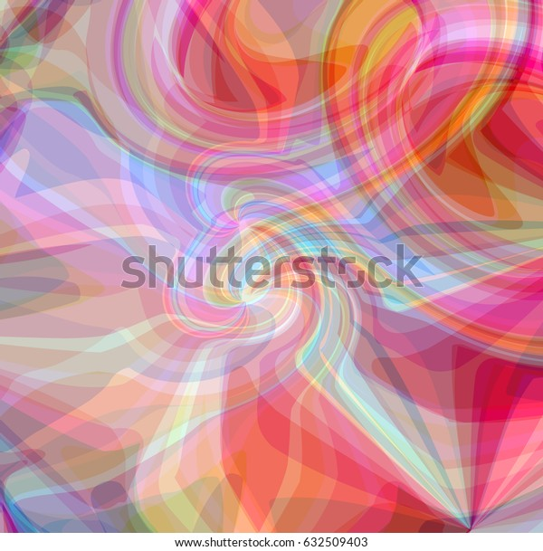 Abstract pattern of colorful smoke, chemical flow of light and mist, smooth gas waves in a motion, floating soft cloud design, art poster. Vector illustration