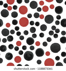 Abstract Pattern Coloring black and red polka. For your design. Vector.