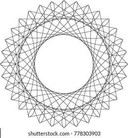 Abstract Pattern of Curved Lines in Squares