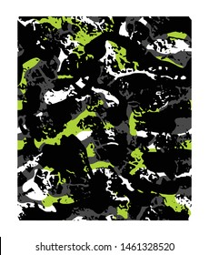 Abstract pattern design. Camo background. Camouflage pattern. Textile print for bed linen, jacket, package design, fabric and fashion concepts.