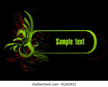 An abstract pattern for design with space for a text.