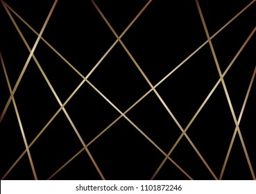 Abstract pattern diagonal line vector. Design stripe gold on black background. Design print for wallpaper, textile, fabric, background. Set 1