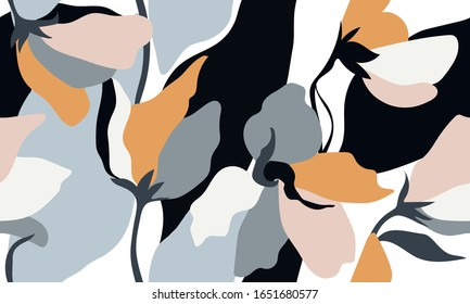 Abstract pattern. Floral seamless design