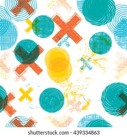 Abstract Pattern with grunge shapes