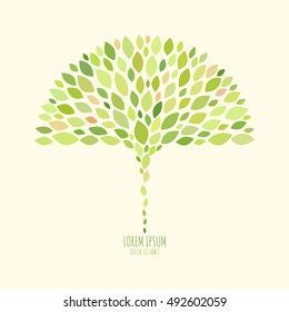 Abstract pattern with leaves. Natural background for your design