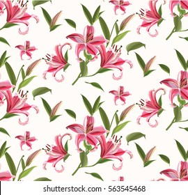 Abstract pattern with Lily flower