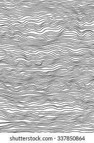 Abstract pattern line art background. Vector illustration. Black and white