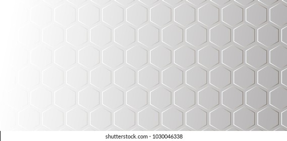Abstract pattern on a gray background of honeycombs.