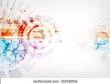 Abstract pattern points and hexagons. Technical or scientific structure dotted geometrical. Vector illustration