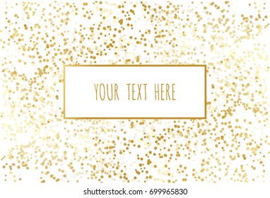 Abstract pattern of random gold dots on Transparent background.