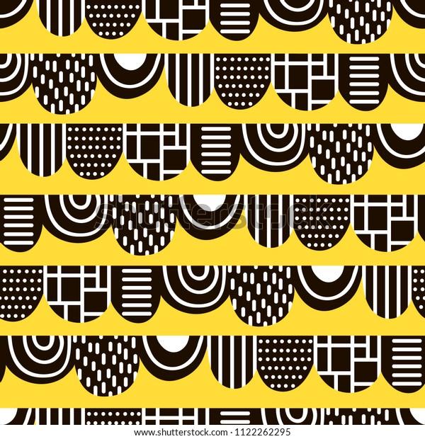 Abstract Pattern Scandinavian Style Vector Illustration