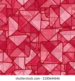 Abstract pattern. The squares are divided into triangles. A hodgepodge of colors. Camouflage for the beach.