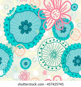 Abstract pattern summer motives. It can be used for printing on packaging, bags, cups, textile, etc. Vector illustration.