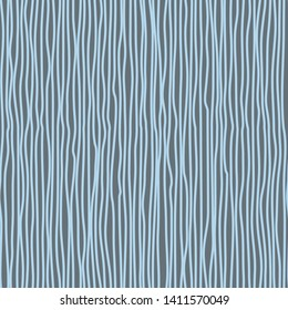 Abstract pattern with vertical curved lines. Background with uneven parallel stripes. Ornament in blue and gray colors.