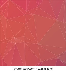 Abstract peach color with white line polygon texture background