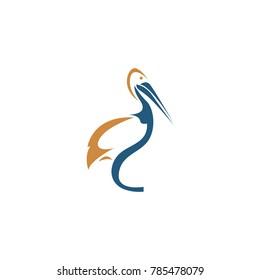 abstract pelican logo