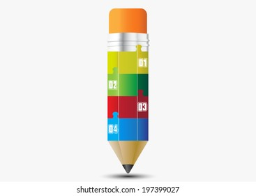 Abstract pencil template