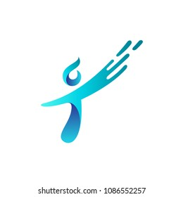 Abstract People Letter T Logo Design Inspiration