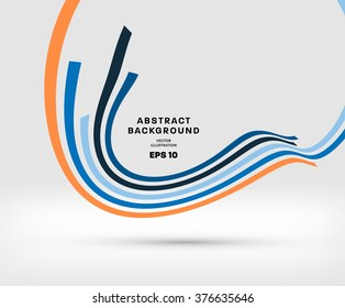Abstract Perspective Curve Lines Background