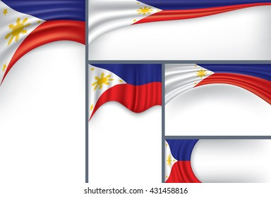 Abstract Philippine Flag, Philippines Colors (Vector Art)