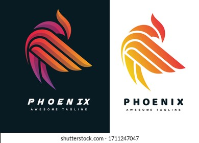 Abstract phoenix bird  logotype for business