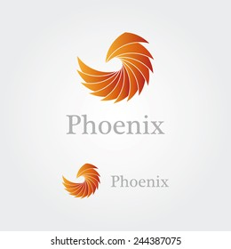 Abstract  phoenix logo