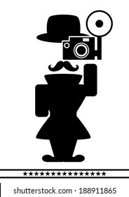 abstract photographer character