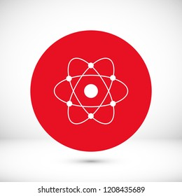 abstract physics science model icon, stock vector illustration flat design style