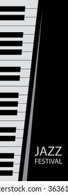 Abstract Piano Art Background, Keys (Vector Art)