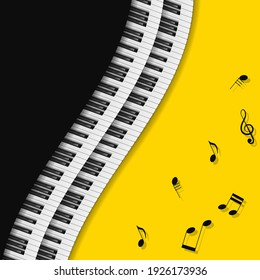 Abstract Piano Keys Music Keyboard Instrument Song Melody Vector Design Style