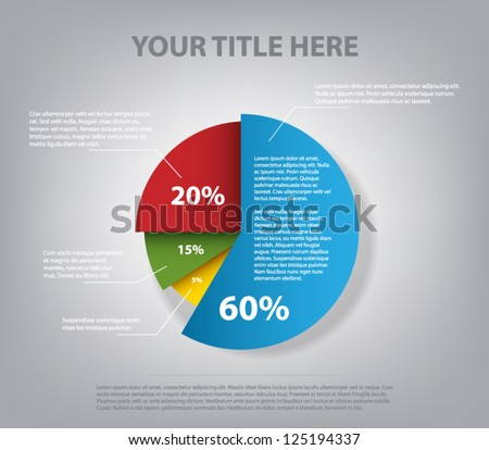 Abstract Pie Chart Graphic Business Design Stock Vector Royalty