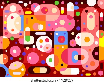 Abstract pills-like background - vector