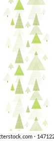 Abstract pine tree forest vertical seamless pattern background