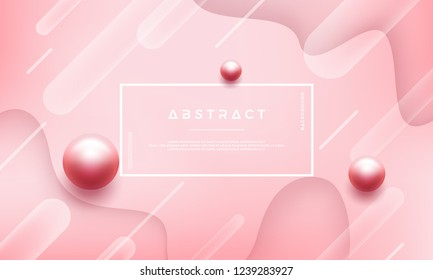 Abstract pink background with beautiful pearls.