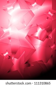 Abstract pink background with stars. Eps 10 vector