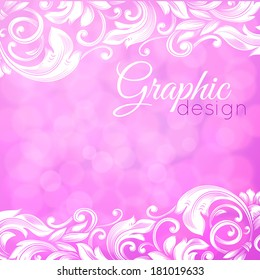 abstract pink background with swirls