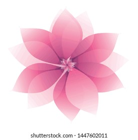 Abstract pink floral shape illustration