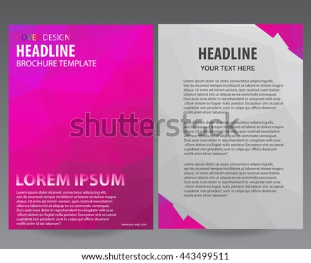 abstract pink flyers brochure annual report stock vector royalty