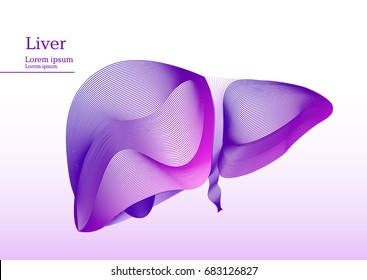 Abstract pink illustration of liver