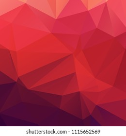 Abstract pink and red polygon texture background