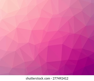 Abstract pink and rosa polygon background